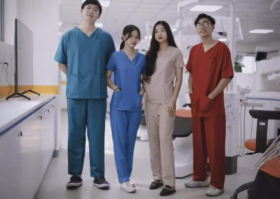 Áo scrubs bác sĩ - Áo blouse trắng