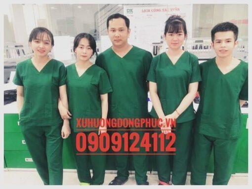 Scrubs - Quần áo phòng mổ - spa nails xanh lá Xu Hướng Đồng Phục - Hotline 0909124112 FB IMG 1630377694557 01 01