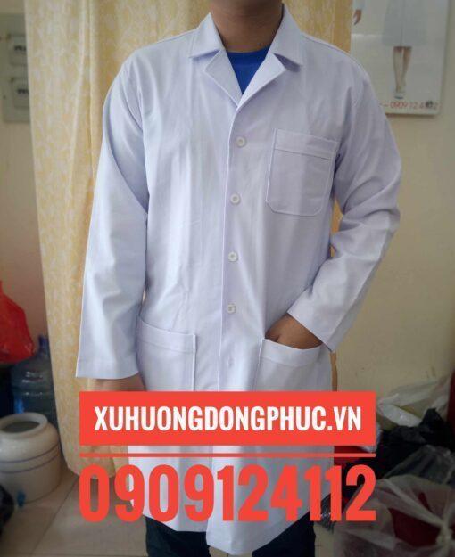 Áo Bác Sĩ Tay Dài Kaki Thun Nam - Xuhuongdongphuc.vn