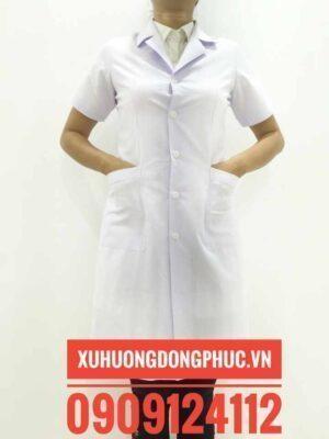 Áo bác sĩ tay ngắn nữ kate ford Xu Hướng Đồng Phục - Hotline 0909124112