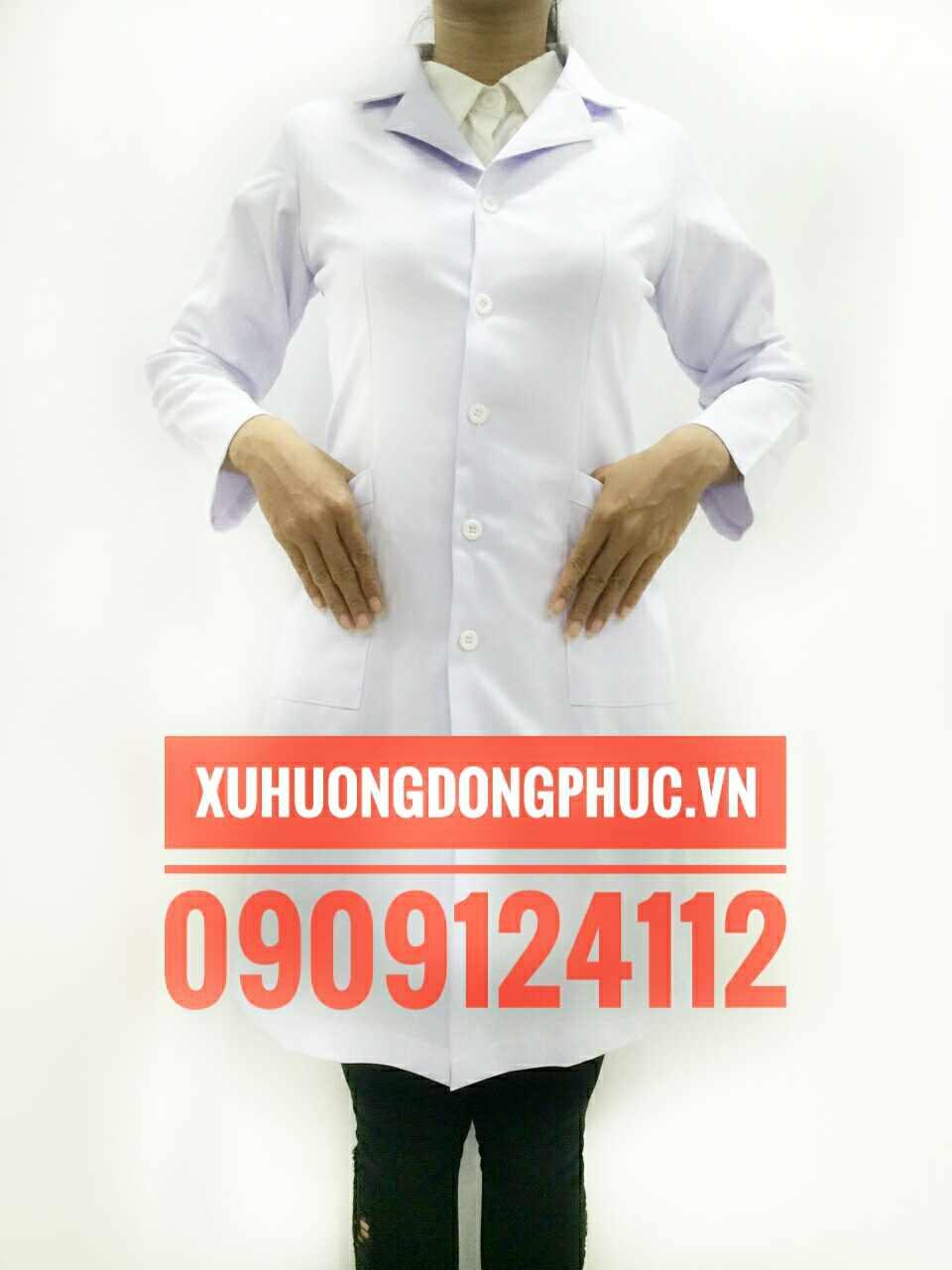 Áo blouse bác sĩ tay dài nữ kate ford