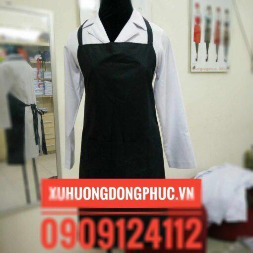 Tạp dề yếm đen chống thấm Xu Hướng Đồng Phục - Hotline 0909124112 IMG 20180908 193452
