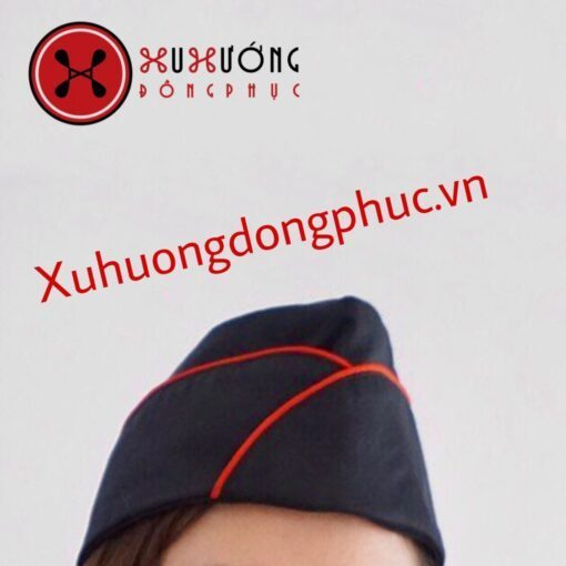 Nón Phục Vụ Đen Viền Đỏ Xu Hướng Đồng Phục - Hotline 0909124112 Img 20190427 101941