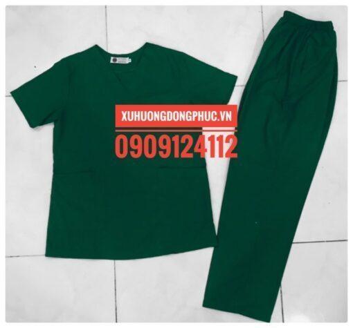 Scrubs - Quần áo phòng mổ - spa nails xanh lá Xu Hướng Đồng Phục - Hotline 0909124112 IMG 20210915 100313 01