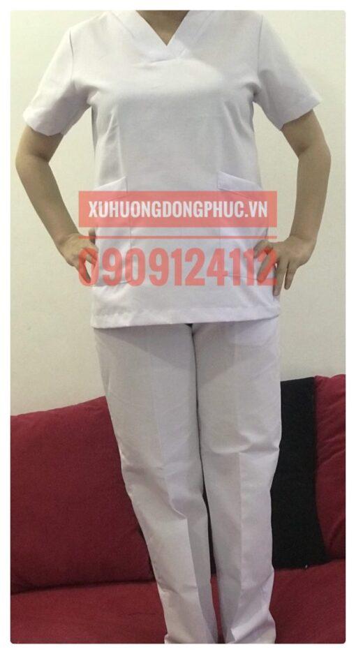 Scrubs - Quần áo phòng mổ blouse - spa nails trắng Xu Hướng Đồng Phục - Hotline 0909124112 IMG 20210920 091031 01