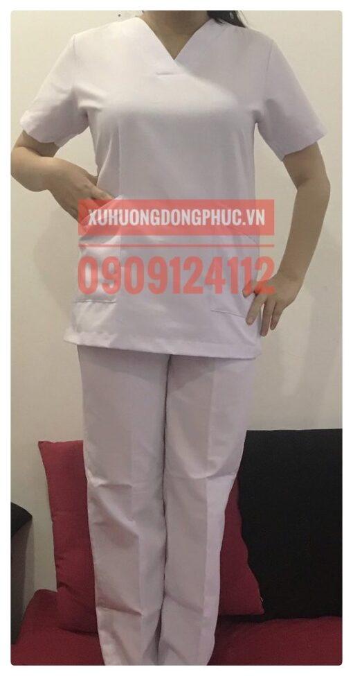 Scrubs - Quần áo phòng mổ blouse - spa nails trắng Xu Hướng Đồng Phục - Hotline 0909124112 IMG 20210920 091032 01