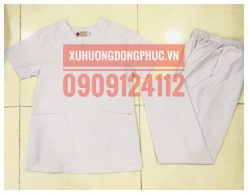 Scrubs - Quần áo phòng mổ blouse - spa nails trắng Xu Hướng Đồng Phục - Hotline 0909124112 IMG 20210920 092028 01