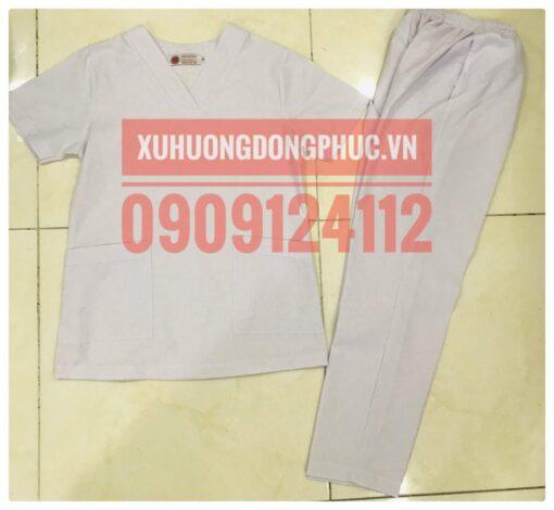 Scrubs - Quần áo phòng mổ blouse - spa nails trắng Xu Hướng Đồng Phục - Hotline 0909124112 IMG 20210920 092032 01