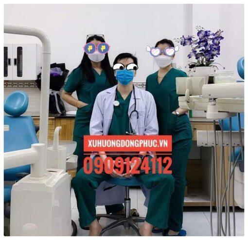 Scrubs - Quần áo phòng mổ - spa nails xanh lá Xu Hướng Đồng Phục - Hotline 0909124112 IMG 20211014 125022