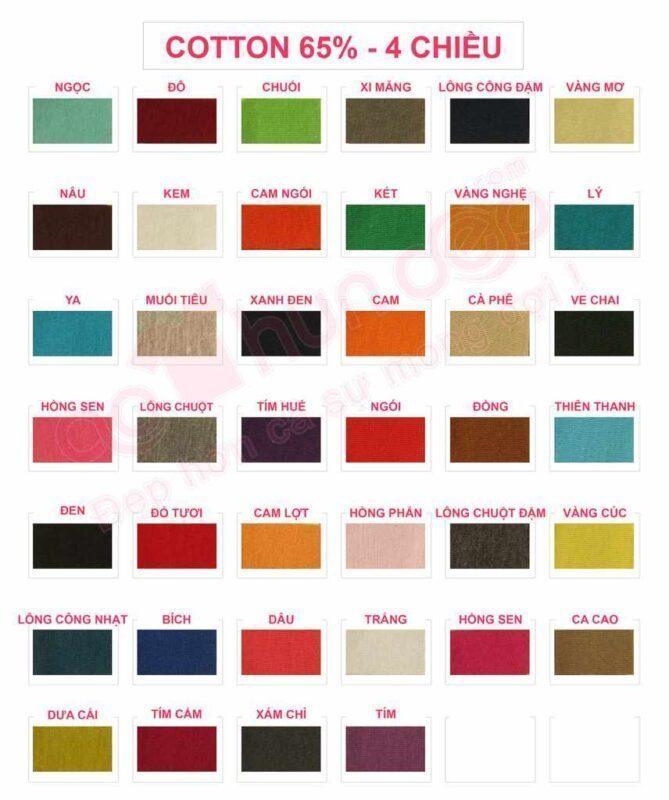 Chất Liệu Các Loại Vải Áo Thun Xu Hướng Đồng Phục - Hotline 0909124112 Cotton 65 4 Chieu
