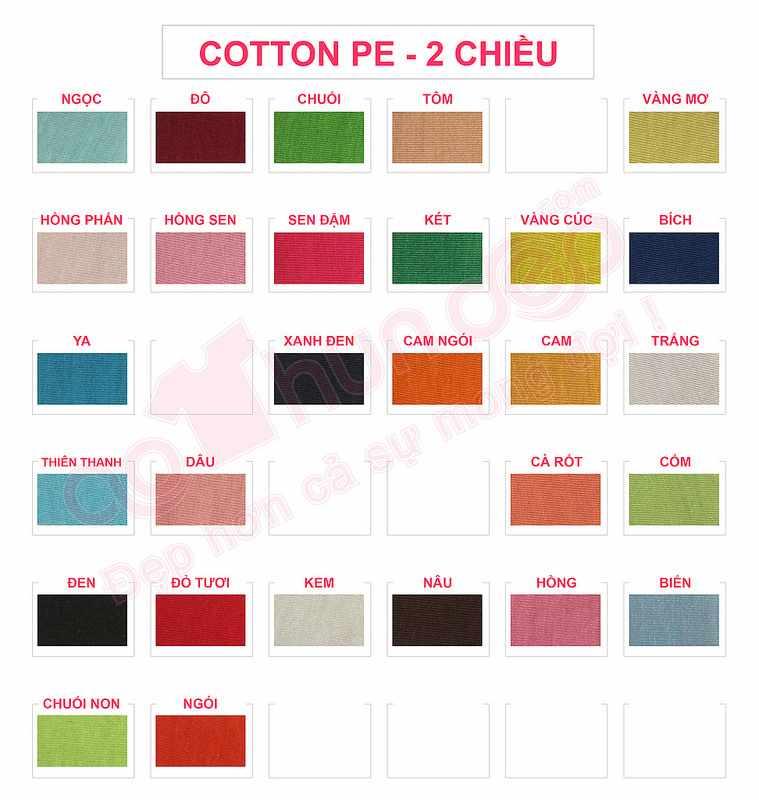 , Bảng màu áo thun – vải cotton cá sấu và Size áo thun, Xu Hướng Đồng Phục - Hotline 0909124112