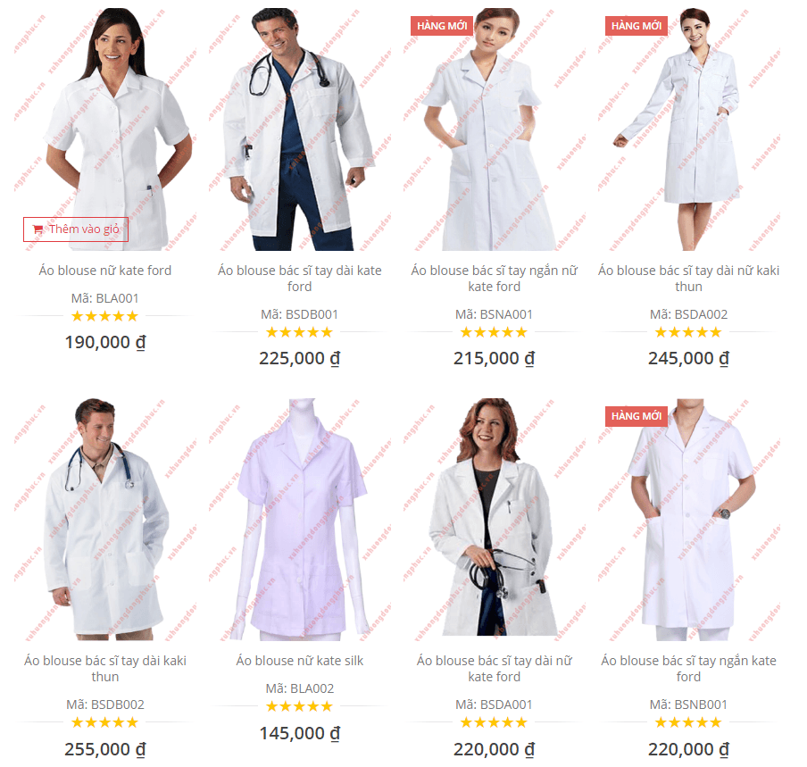 Đồng phục bệnh viện - Áo blouse