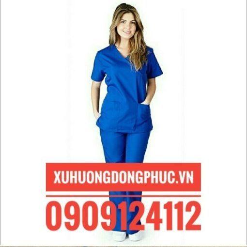Scrubs - Quần Áo Phòng Mổ Blouse - Spa Nails Xanh Dương Xu Hướng Đồng Phục - Hotline 0909124112 M 59E4C9A76D64Bc487E0Bef72 01