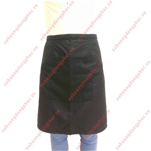 Tạp dề ngang đen 1 túi